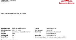 commissiebrief stadsverwarming Gemeente Utrecht Eneco