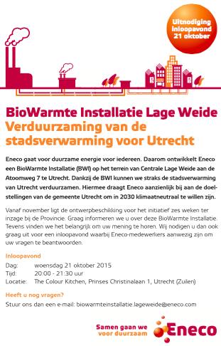 biomassa stadsverwarming utrecht lage weide