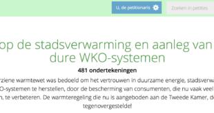 petitie, WKO, warmte, stadsverwarming, warmtewet, warmtebesluit, warmteregeling
